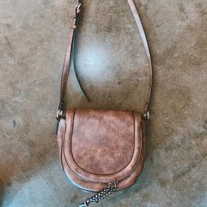 Cute brown leather hipster purse!
